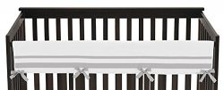 Sweet Jojo Designs White and Gray Modern Hotel Long Front Rail Guard Baby Boy or Girl Teething C ...