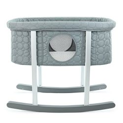 Green Frog Bassinet/Cradle | Gentle Rocking | Mesh Windows | Infant Safe Mattress | Hidden Wheel ...