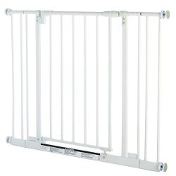 Supergate Easy Close Gate, White, Fits Spaces between 28″ to 38.5″ Wide and 29″ ...