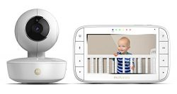 Motorola MBP36XL Portable Video Baby Monitor, 5-Inch Color Screen Portable, Rechargeable Camera  ...