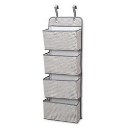 Delta Children 4-Pocket Hanging Wall Organizer, Grey