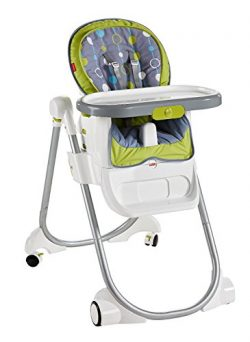Fisher-Price 4-in-1 Total Clean High Chair, Green/Gray