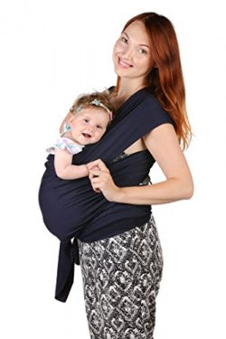 Baby Sling Carrier – Natural Cotton Nursing Moby Cover For Newborns | Breastfeeding Sling  ...