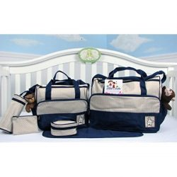 SoHo Diaper bag with changing pad 8 pieces set (Dark Navy)