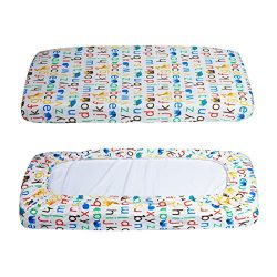 Changing Pad Cover – Waterproof Cotton Diaper Change Table Pad Cover Cradle Bassinet Sheet ...