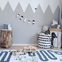 Large Canvas Storage Bin, ISUDA Heavy Duty Cotton/Canvas Storage Basket for Nursery or Kids&#821 ...