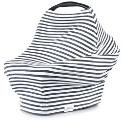 5-in-1 Carseat Canopy & Nursing Cover + Baby Bandana Bib by Matimati, Stretchy & Ultra S ...