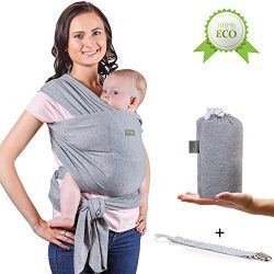 Baby Wrap Carrier – Newborn Baby Sling from babies until the weight of 35 lbs – Natu ...