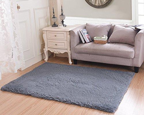 living room rug cwktiti super soft indoor modern shag area rugs bedroom rug for children play. Black Bedroom Furniture Sets. Home Design Ideas
