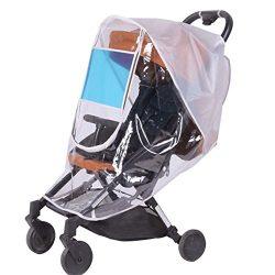 Universal Baby Stroller Weather Shield,Sunshade,Rain Cover,Breathable,Waterproof Umbrella Stroll ...