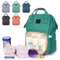 Diaper Backpack, Large Capacity Baby Bag, Multi-Function Travel Backpack Nappy Bags, Nursing Bag ...