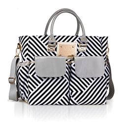 Designer Diaper Bag by MB Krauss – Large Women's Diapering Tote with Multiple Pockets, Lux ...