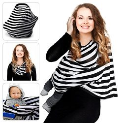 Nursing Breastfreeding Cover Scarf Baby Car Seat Canopy, Shopping Cart, Stroller, Carseat Covers ...