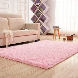 Noahas Super Soft 4.5cm Thick Modern Shag Area Rugs Fluffy Living Room Carpet Comfy Bedroom Home ...