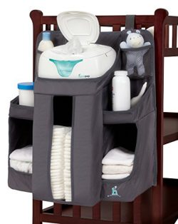 hiccapop Nursery Organizer and Baby Diaper Caddy | Hanging Diaper Organization Storage for Baby  ...