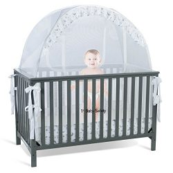 SEE THROUGH MESH TOP – Baby Crib Tent Safety Net Pop Up Canopy Cover