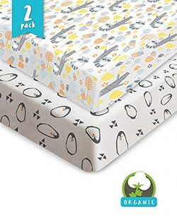 Bouncy Baby Pack N Play Sheets – Organic & Shrink-Resistant, Unisex Jersey Cotton Fitt ...