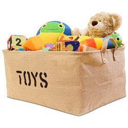 Organizerlogic Storage Baskets – 22 x 15 x 10″ – XL Storage Bins for Organizin ...