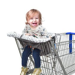 Shopping Cart Cover & High Chair Cover for Baby or Toddler – Includes Attached Carryin ...