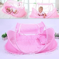 KidsTime Baby Travel Bed,Baby Bed Portable Folding Baby Crib Mosquito Net Portable Baby Cots New ...
