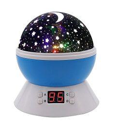 SCOPOW Lighting Night Light Star Projector with Timer Auto-Shut Off, 360 Degree Rotation Colorfu ...