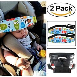 HULISEN 2Pcs Infants and Baby Head Support Band, Carseat Straps Covers, Slumber Sling, Toddler C ...