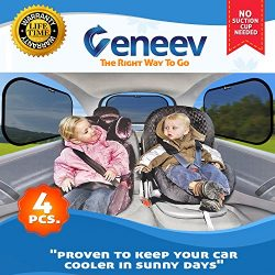 Car Sun Shade for Side and Rear Window (4 Pack) – Car Sunshade Protector – Protect y ...