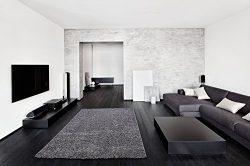 Ottomanson Soft Cozy Color Solid Shag Area Rug Contemporary Living and Bedroom Soft Shag Area Ru ...