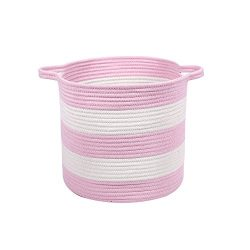 M2 Home Accessories Cotton Rope Storage Basket with Handles for Laundry, Kid's Toys, Nurse ...