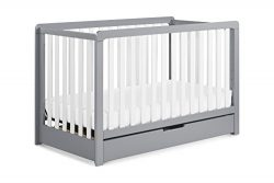 Carter's by DaVinci Colby 4-in-1 Convertible Crib with Trundle Drawer, Grey and White