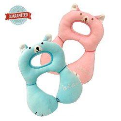 Baby bear travel neck cushion – Baby car seat & stroller headrest pillow, head and nec ...