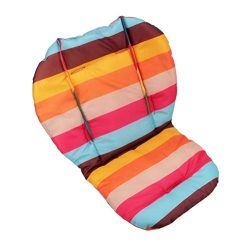 Twoworld Baby Stroller / Car / High Chair Seat Cushion Liner Mat Pad Cover Protector Rainbow Str ...