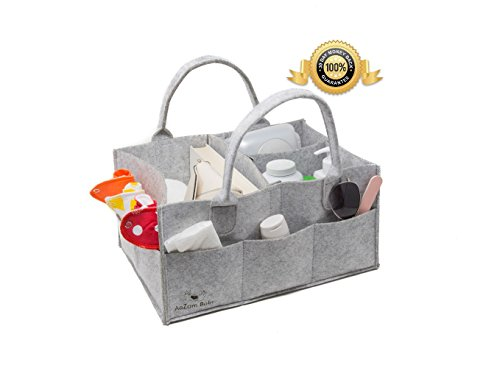 Diaper Organizer For Changing Table Multi Use Baby Diaper Caddy And