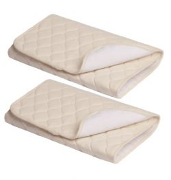 American Baby Company Waterproof Quilted Flat Multi-Use Pad made with Organic Cotton, Natural Co ...