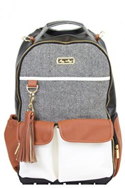 Itzy Ritzy Boss Backpack Diaper Bag Backpack in Coffee and Cream