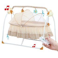 Baby cradle swing,Big Space Electric automatic baby swings for infants indoor&outdoor outsid ...