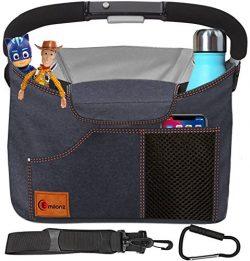 Best Universal Stroller Organizer Bag – Bonus Shoulder Strap and Stroller Hook – Sty ...