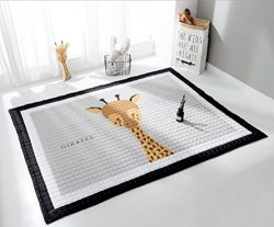 LAGHCAT Children Rug thickening Carpet Pad with Animal Soft Christmas Mat for Baby Creeping,Giraffe