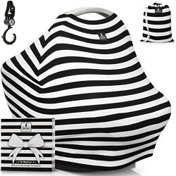 """Baby Car Seat Canopy & Multi-Use Nursing Cover – FREE GIFT BOX SET – """"The  ..."""