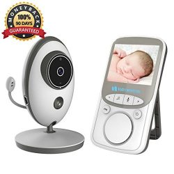 Video Baby Monitor Wireless with Digital Camera 2 Way Talkback, 2.4inch Screen Night Vision Temp ...