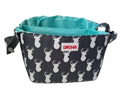 Diaper Storage Caddy By Danha – Portable Diaper Bag And Stacker With Beautiful Grey Deer Unisex  ...