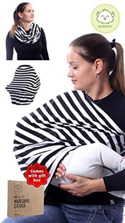 Breastfeeding Nursing Cover Scarf – Stretchy Infinity Nursing Shawl – Baby Nursing W ...