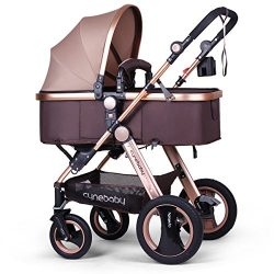 Infant Baby Stroller for Newborn and Toddler – Cynebaby Convertible Bassinet Stroller Comp ...