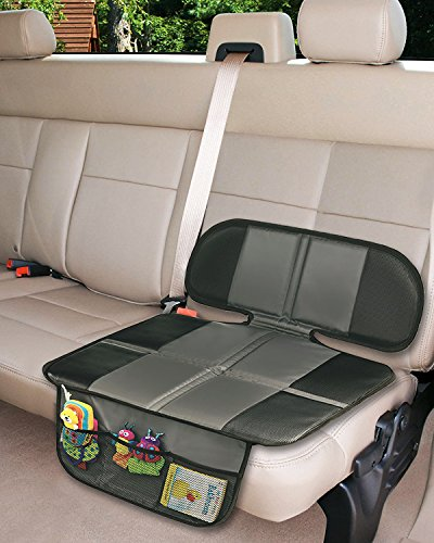 car seat protector extra storage pocket thickest padding protection for child baby cars seats. Black Bedroom Furniture Sets. Home Design Ideas