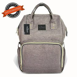Diaper Bag Travel Nappy Backpack – Waterproof Roomy Baby Bags Multi-Function Nursing Shoul ...