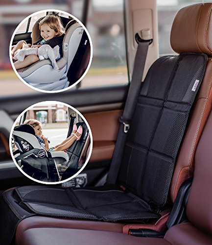 car seat protector premium carseat auto cover for baby infant safety seat as kick mat. Black Bedroom Furniture Sets. Home Design Ideas