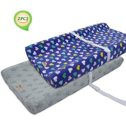 BlueSnail Plush Super Soft and Comfy Changing Pad Cover Change Table Cradle Bassinet Sheets with ...