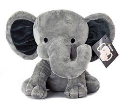 KINREX Elephant Plush – Elephant Stuffed Animal – Baby Toys – Measures 9 Inche ...