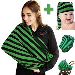 UltraHugs 100% Cotton Nursing Cover, Breastfeeding Scarf – Use for Baby Car Seat, High Cha ...