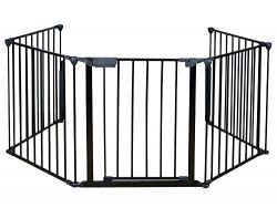 Costzon New Fireplace Fence Baby Safety Fence Hearth Gate BBQ Metal Fire Gate Pet Dog Cat